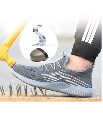 Safety Shoes Men's Breathable Work Protective Shoes Steel Head Anti-Smash Anti-Puncture Safety Footwear