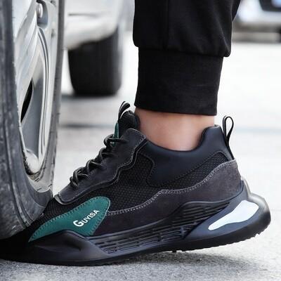 Safety Shoes/Steel Toe/Cap D'acier/Light EVA Bottom / Green Suede Leather / European Standard / Work Shoes