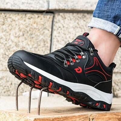 Microfiber Leather/mesh /rubber outsole / Safety Shoes/Men/Steel Toe/Work/Sneakers/anti-puncture/Chaussures de sécurité / Hommes / Steel Toe / Work / Sneakers / anti-crevaison
