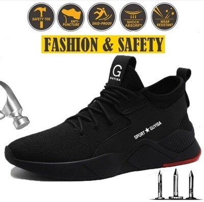 Safety Shoes/Steel Toe/ Cap d'acier/ Safety/Puncture Proof/Breathable/Lightweight/Sneakers