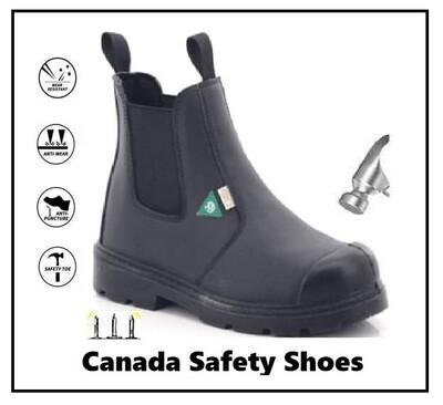 Botte des Securite - CSA - Logo Vert - Safety Boots - Safety Shoes - Oil Resistant - résistant à l'huile - Cap D'acier - Steel Toe - Anti Puncture - Anti crevaison