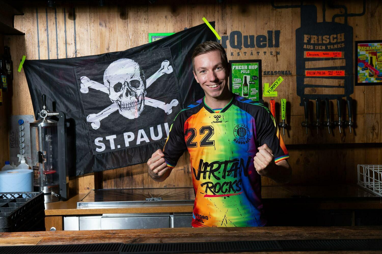 """St. Pauli Handball Trikot 1. Herren """"Rainbow"""""""