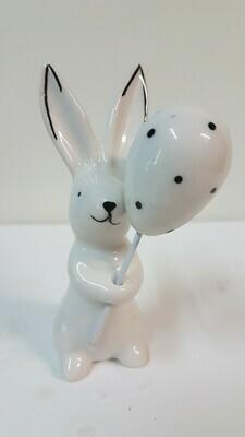 Porzellan Hase mit Ballon