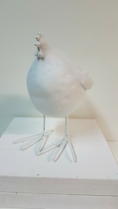 Hühner mittel weiss