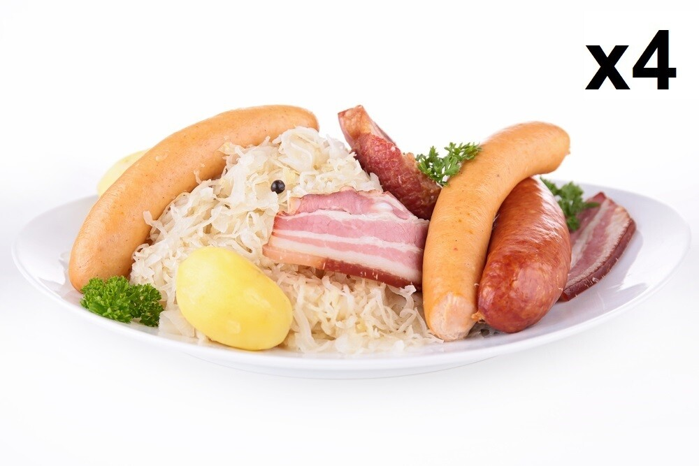 Lot de 4 Portions de Choucroute