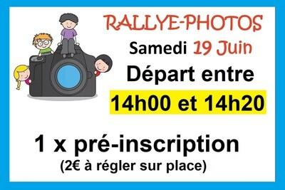 1 x Pré-inscription départ 14h00