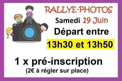 1 x Pré-inscription départ 13h30