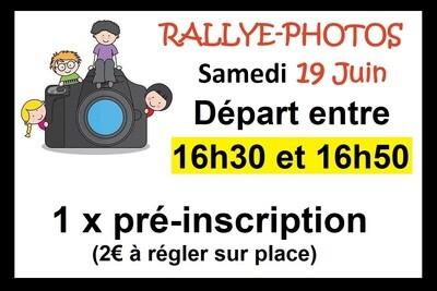 1 x Pré-inscription départ 16h30