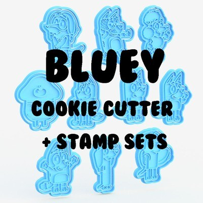 Bluey Cookie Cutter & Stamp set