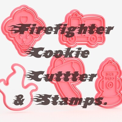 Firefighter Cookie Cutters & Stamps