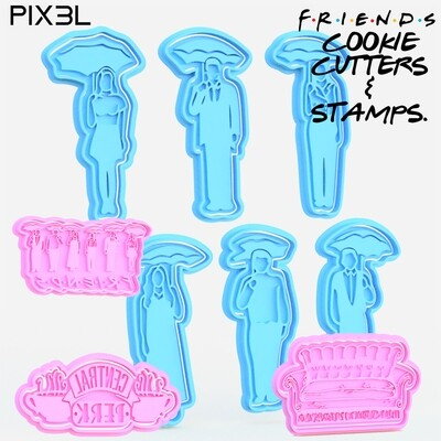 F.R.I.E.N.D.S Cookie Cutters & Stamps