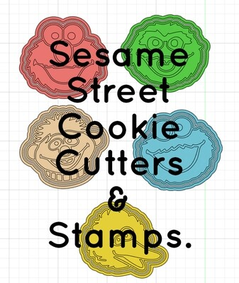 Sesame Street Cookie Cutters & Stamps
