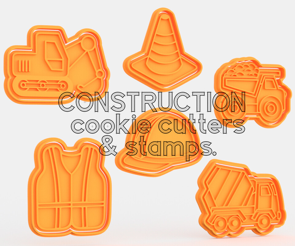 Construction Cookie Cutters & Stamps