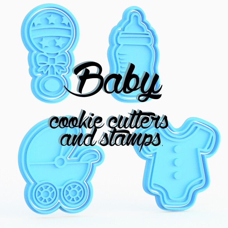 Baby Cookie Cutters and Stamps.