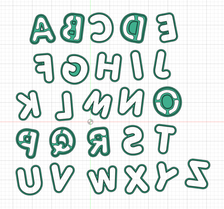 Alphabet Cutters and Stamps.