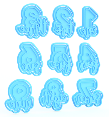 Numbers Cookie Cutters & Stamps