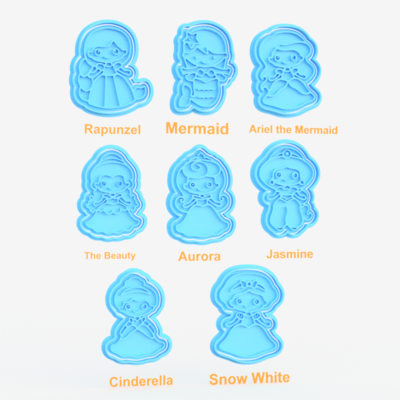 Disney Princess (inspired) Cookie Cutters & Stamps