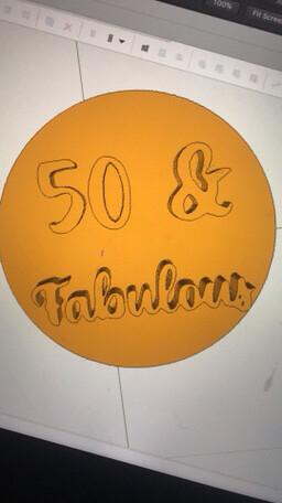 50 & Fabulous Stamp