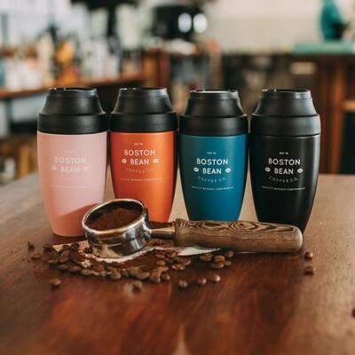 'Boston Bean' Cheeki 350ml Insulated Mug