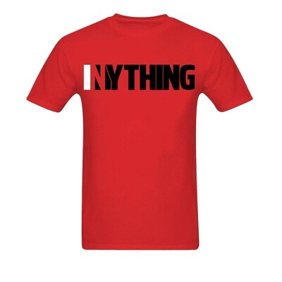 Red Shirt with Black Inything