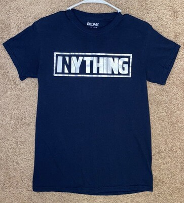 Navy With Silver Inything