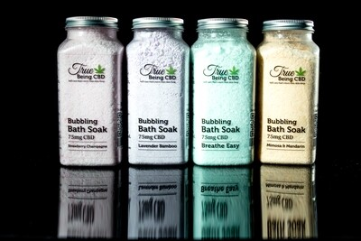 TRUE BEING CBD - Bubbling Bath Soak - Various Scents - 75mg CBD