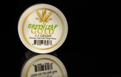 GREEN LEAF GOLD - Premium Gold Label Hemp Flower - 3.5 Gram