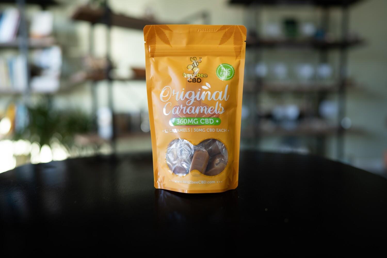 beeZbee CBD Caramels - 30mg CBD- Bag of 12