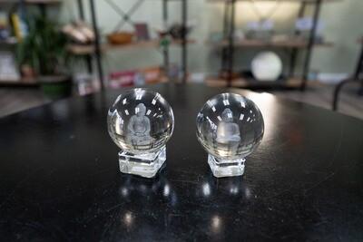 GLASS BUDDAH SPHERE