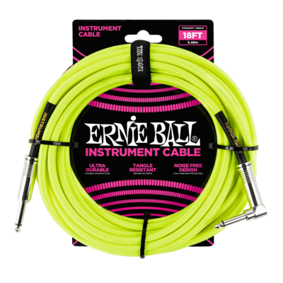 Ernie Ball Intrument Cable (18FT Jaune)