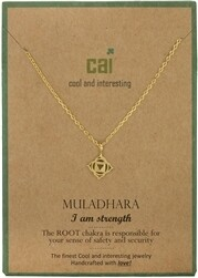 CAI Gold Chakra symbol necklace- muladhara