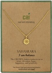CAI Gold Chakra symbol necklace- Sahasrara