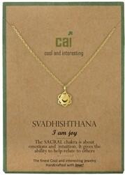 CAI Gold Chakra symbol necklace- Svadhisthana