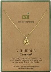 CAI Gold Chakra symbol necklace- Vishuddha