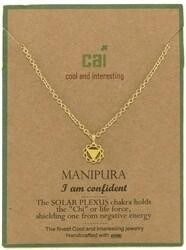 CAI Gold Chakra symbol necklace- Manipura