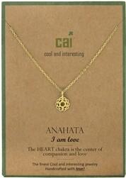 CAI Gold Chakra symbol necklace- Anahata