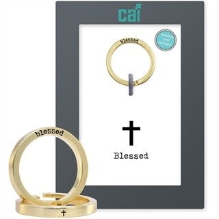 CAI Gold Blessed Secret Message Ring