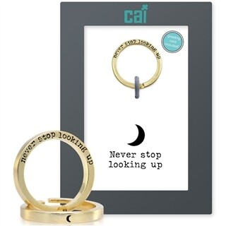 CAI Gold Never Stop Looking Up  Secret Message Ring