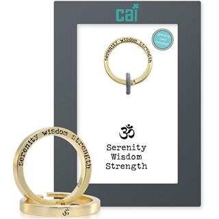 CAI Gold Serenity  Secret Message Ring