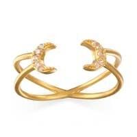 Satya Jewelry double moon ring