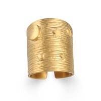 Satya Jewelry star moon adjustable ring
