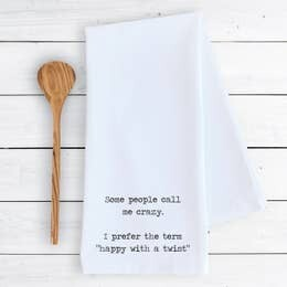 Dev D and Co. Happy with a Twist Tea Towel