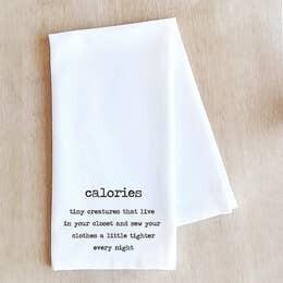 Dev D and Co. Calories Tea Towel