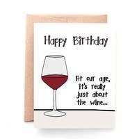 Birthday Wine Card