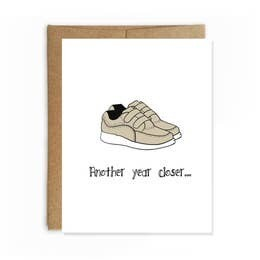 Laceless Shoes B-Day Card