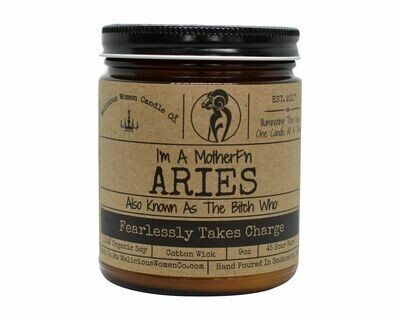 Malicious Women ARIES candle