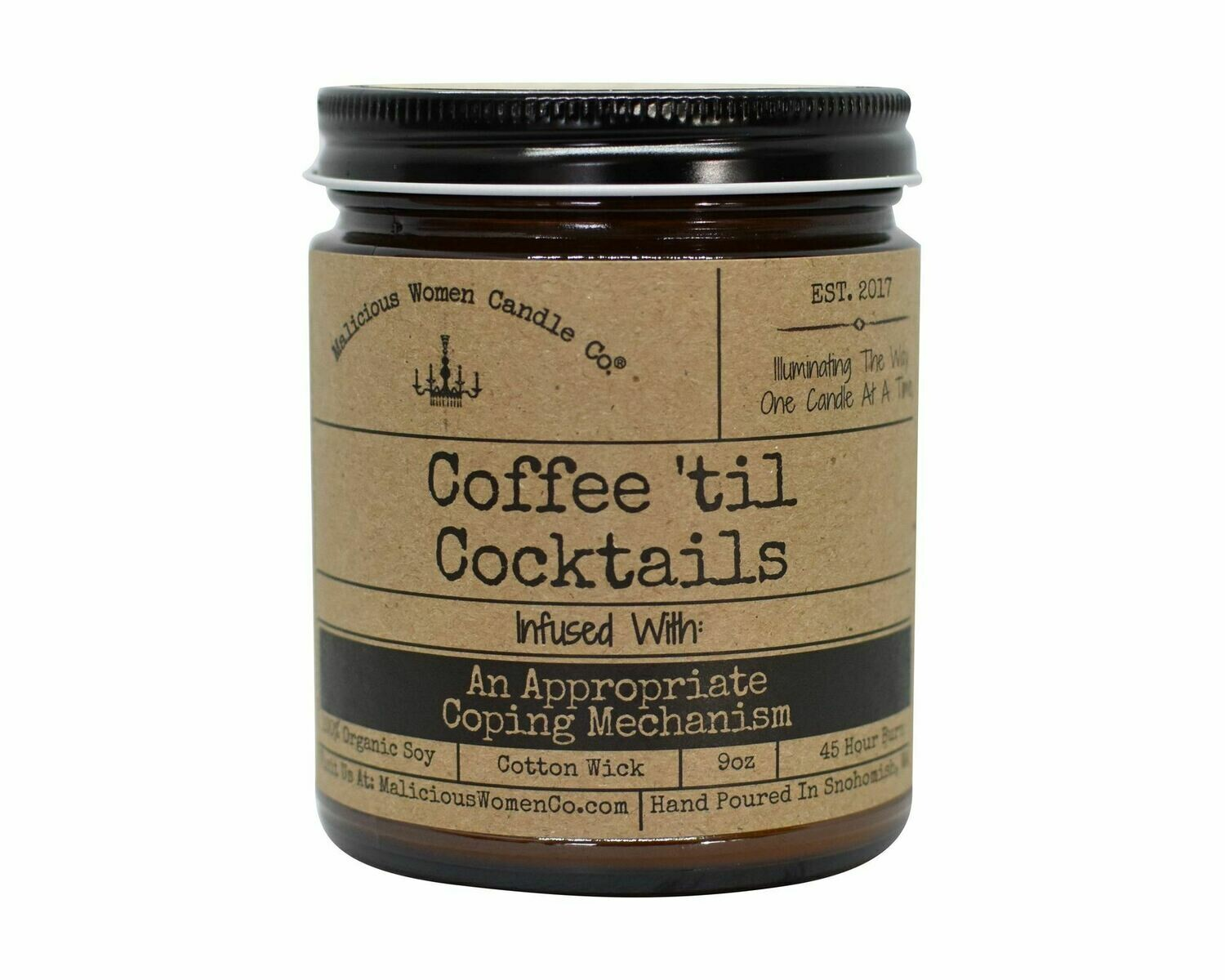 Malicious Women COFFEE TIL CONCKTAILS candle