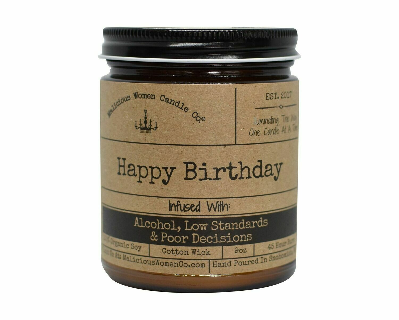 Malicious Women HAPPY BIRTHDAY candle