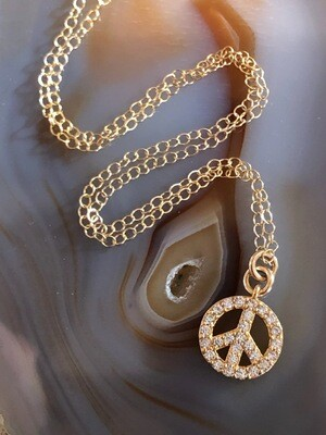 Jeanne Peace Sign Necklace