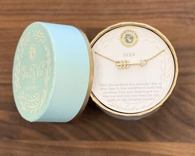 """Spartina Sea La Vie Necklace 18"""" Seek/Arrow Gold"""